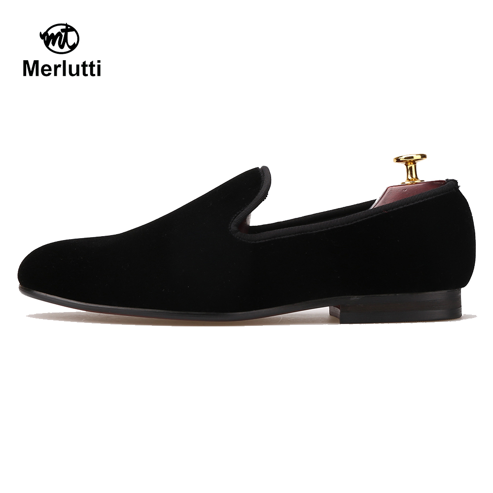 Black Velvet Smoking Slippers