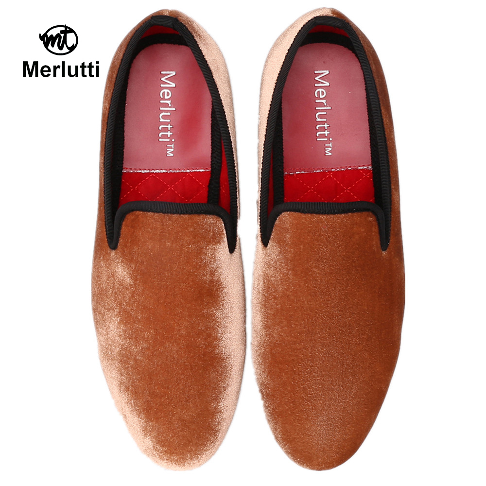 Merlutti Pompon Loafers with Tassel Mens Casual Loafers and Slip-ons Flat Orange Brown Black Tassel