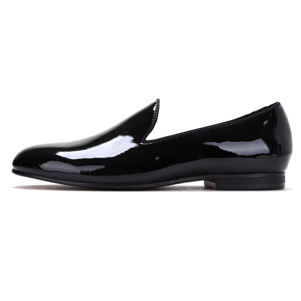 Plain Black Patent Leather Flat