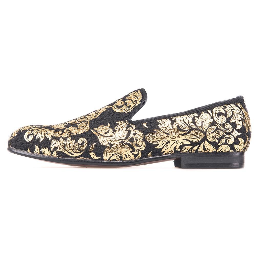 Gold Creative Prints Taetae Loafers Flat