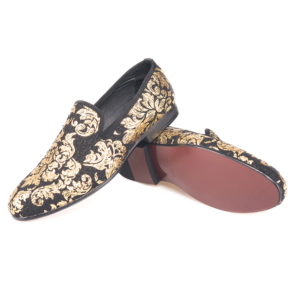 Gold Creative Prints Taetae Loafers Flat