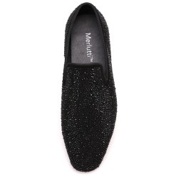 Black Crystal Loafer