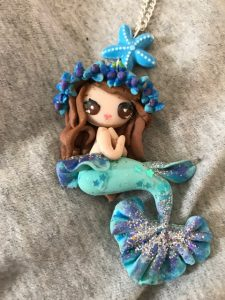 Fabulous Hand made Mermaid necklace in Holiday Mermaidbox