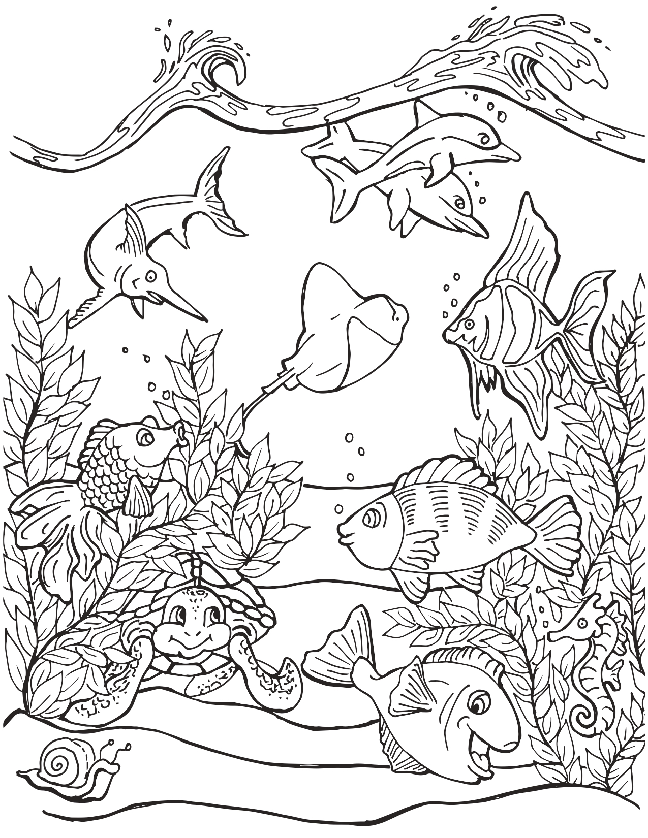 Under The Sea Coloring Pages : under, coloring, pages, Under, Coloring, Mermaid, Pages