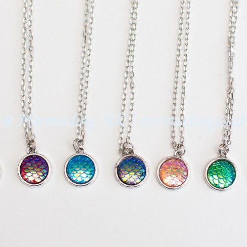 Mermaid scale necklaces | Mermaiding UK | mermaiding.co.uk