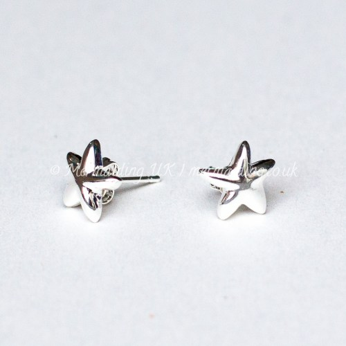 Silver starfish studs | Mermaiding UK | mermaiding.co.uk