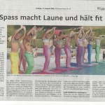 Mermaid academy in the paper in Switzerland