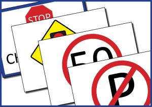 Road Traffic signs for Garda Síochana dramatic play