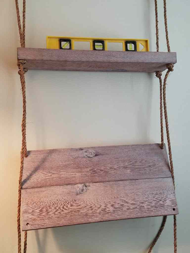 Easy DIY hanging shelf | add bottom shelf and keep it level