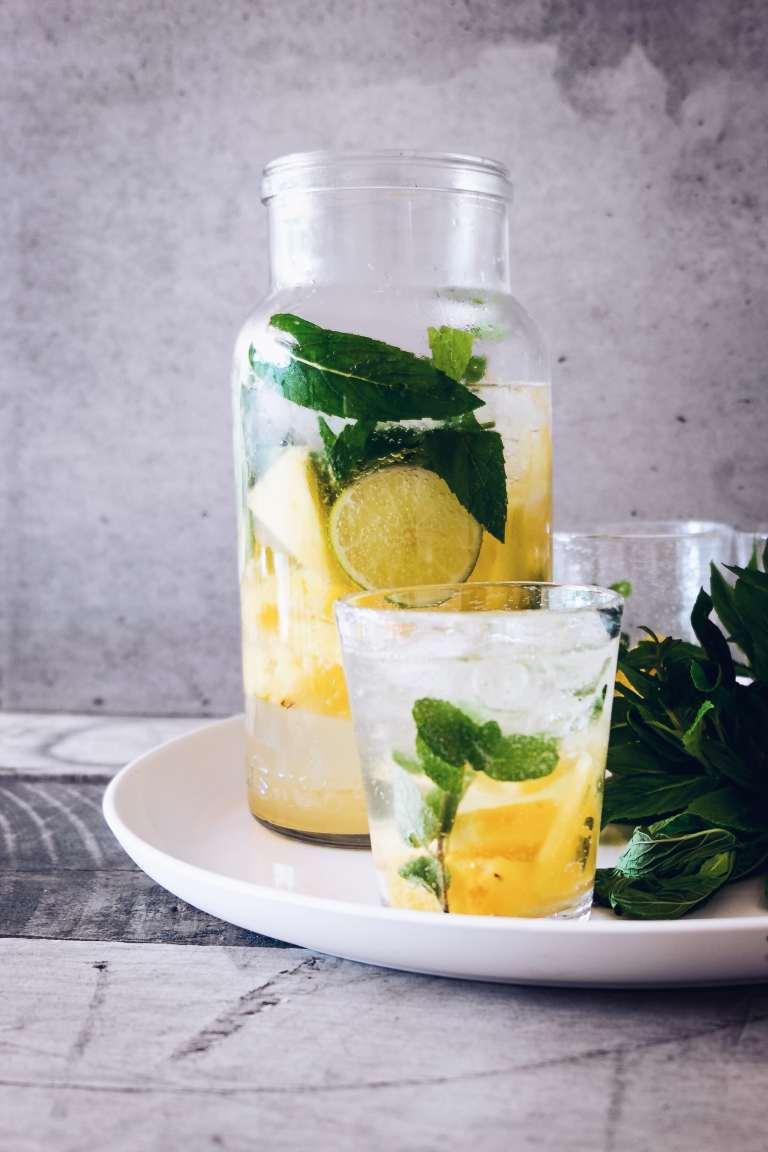 Easy pineapple mint lemonade pitcher