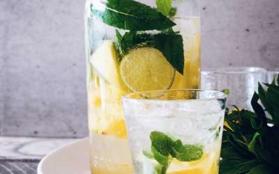 Easy pineapple mint lemonade pitcher