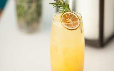 Easy rosemary vanilla lemonade