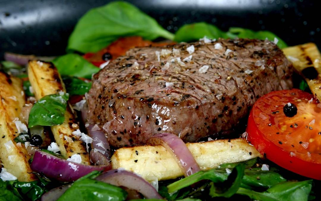 Whole Grilled Beef Tenderloin with Roast Garlic Blue Cheese