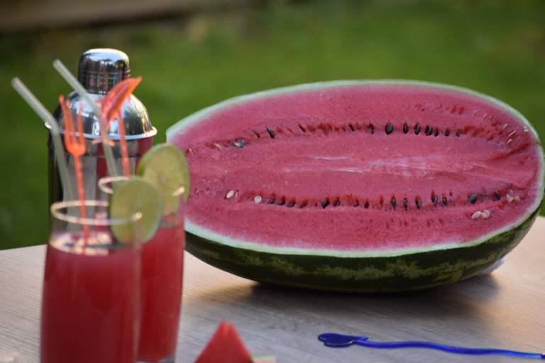 Homemade watermelon thyme lemonade