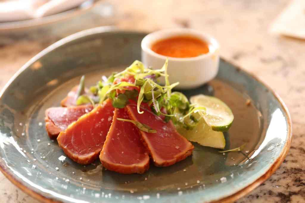 Wasabi seared ahi tuna