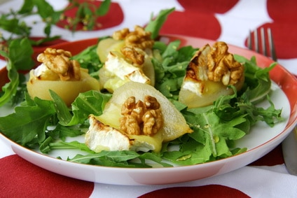 Pear and Blue Cheese Green Salad