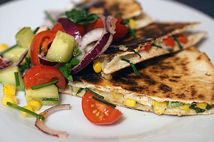Grilled Chicken and Goat Cheese Quesadilla