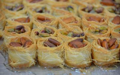 Cambozola with Pistachio and Almond Appetizer Bite