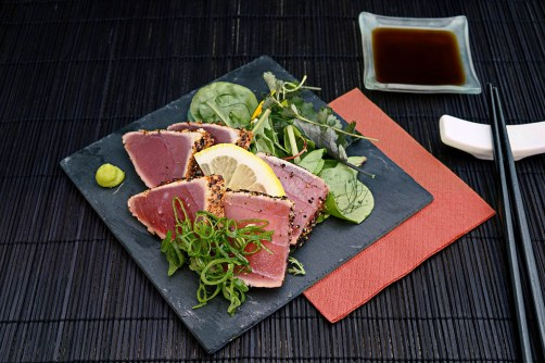 Marinated and Seared Ahi Tuna