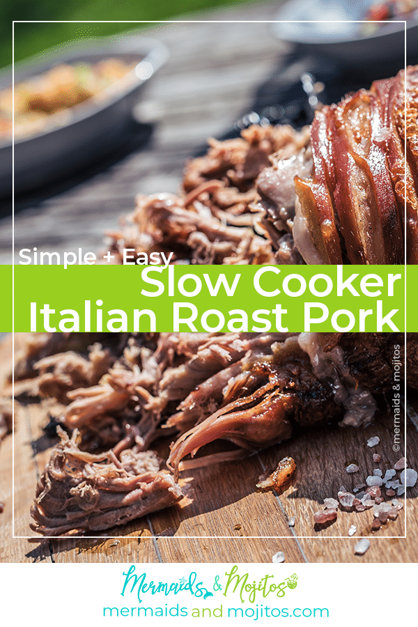 Slow cooker Italian Roast Pork