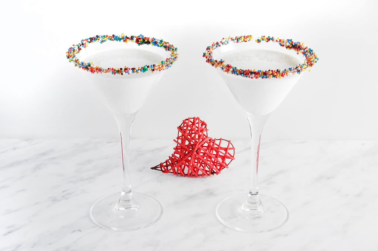 Mardi Gras King Cake Martini via @mermaidsandmojitos