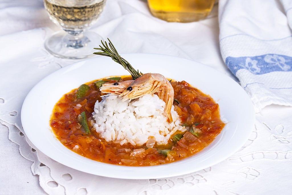 Spicy Shrimp and Sausage Gumbo via @mermaidsandmojitos
