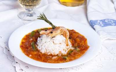 Spicy Shrimp and Andouille Sausage Gumbo