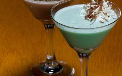 Hazelnut S'Mores Martini Cocktail