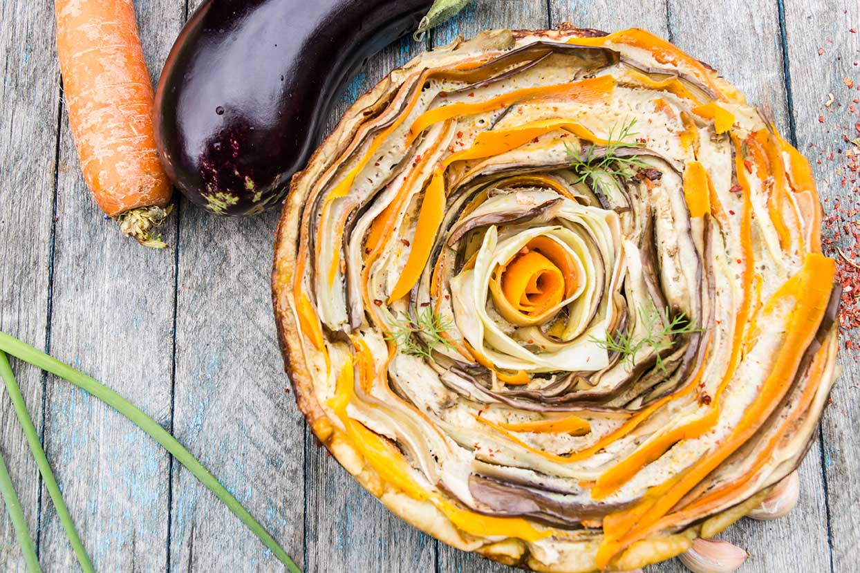 Rosette Italian Vegetable Tart via @mermaidsandmojitos