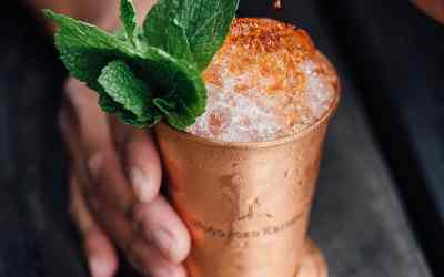 Kentucky Derby honey mint julep