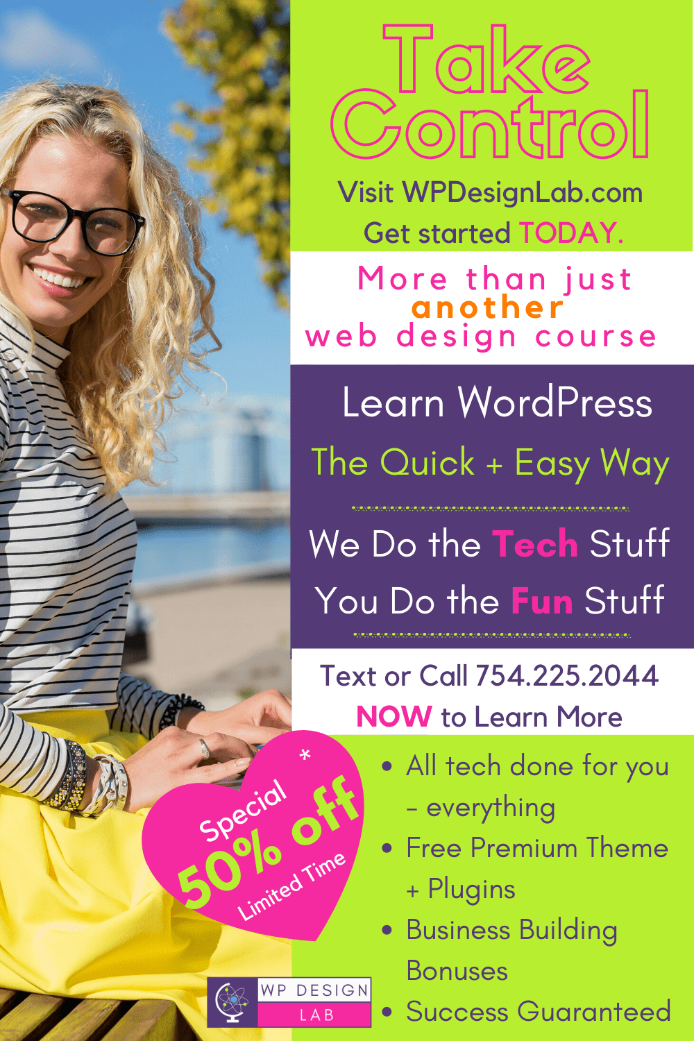 Learn WordPress 50% off