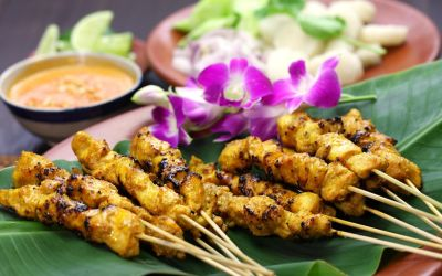 Chicken Satay with Crunchy Peanut Sauce