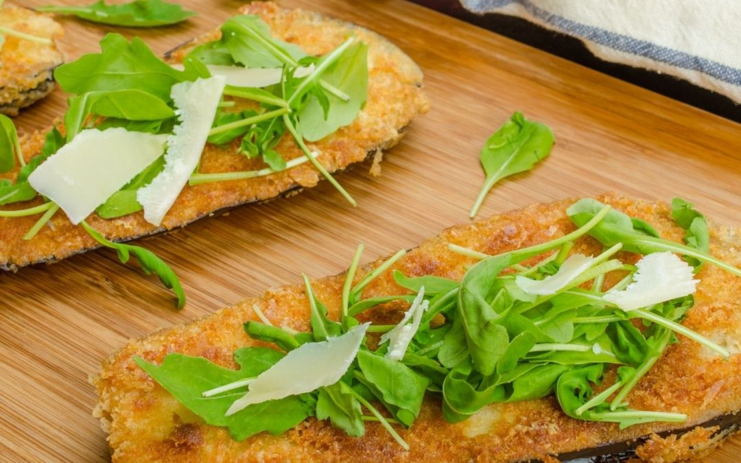 Eggplant Milanese | Pan Fried Eggplant Cutlets