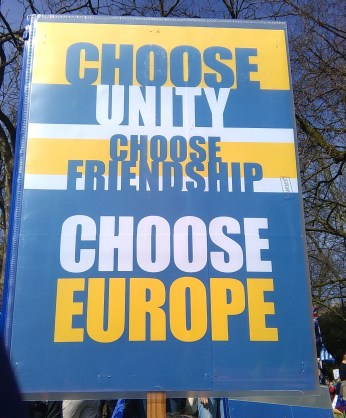 Choose Unity Choose Friendship Choose Europe