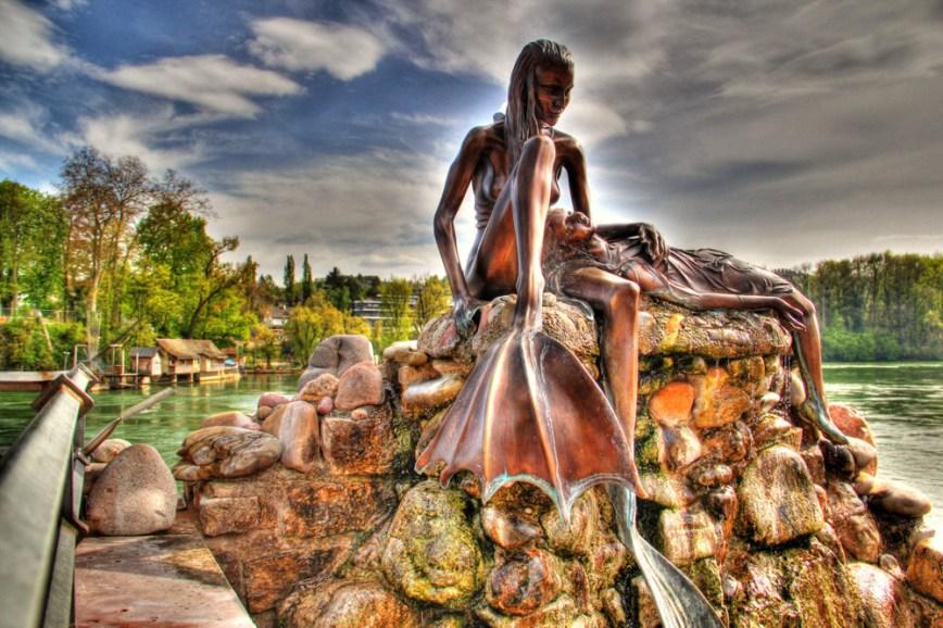 Rheinfelden Mermaid sculpture