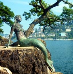 Mermaid statue - Miranda, Mermaid of Dartmouth.