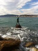 'Atlante' Mermaid Sculpture in Cannes.