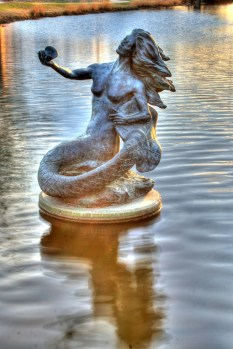 Pearl of the Concho Mermaid Statue