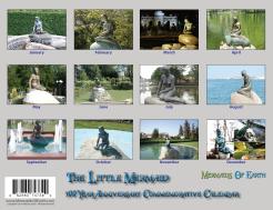 Back Cover The Little Mermaid Centennial Wall Calendar