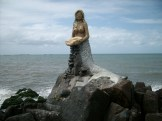 Mermaid statue in Barra Velha
