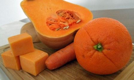 Ingredientes color naranja