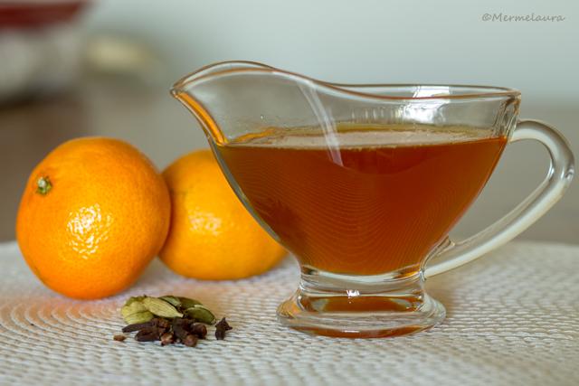 Sirope especiado de mandarina.