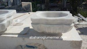 işlemeli beyaz türk hamam kurnası ku-30 ölçüleri : 45x55x30 cm fiyatı : 1300 tl