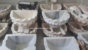 işlemeli banyo mermer kurnalar ku-084 ölçüleri : 45x50x35 fiyatı : 1600 tl