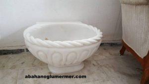 oval mermer kurna