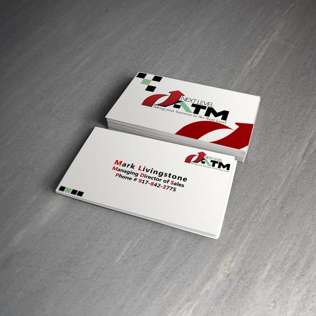 Next Level ATM Business Card design by Merog, merogdesign.com