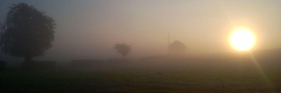 Misty Merok Mill House Morning