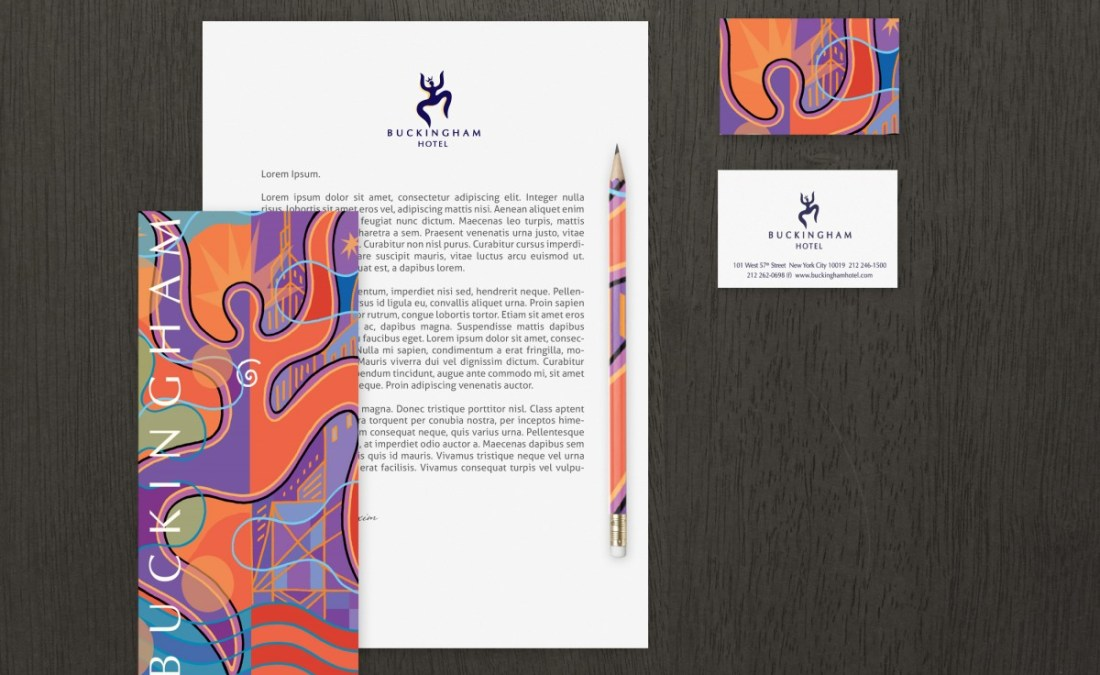 New York City hotel brand and identity