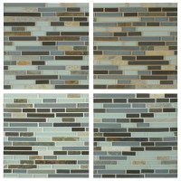 Grout colors clockwise from upper left: #115 Platinum ...
