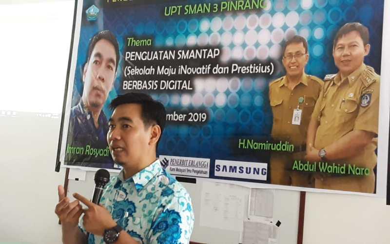 Tingkatkan Penguatan Berbasis Online, SMA 3 Pinrang gelar Workshop